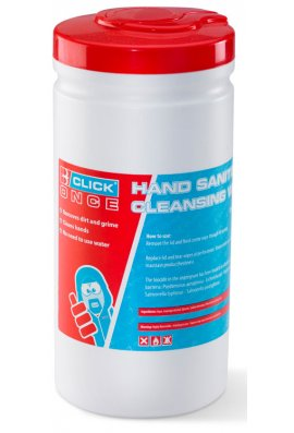 Click CO020 Click Hand Sanitizing Cleansing Wipes
