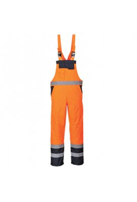 Portwest S489 Contrast Bib & Brace - Lined (Small To 2XL)