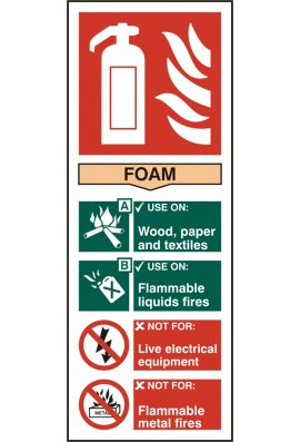 Click BSS12306 Fire Extinguisher Guide Sign Foam Sign Vinyl Version