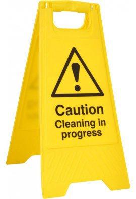 Click BSS4703 Pre-Printed A Board 'Caution Cleaning In Progress'
