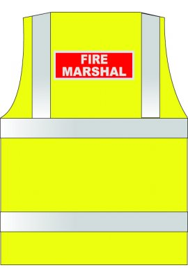 HVW LTD WCENGFM Reflective Print Fire Marshal (Small To 6XL)