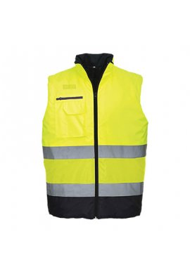 Portwest S267 Hi-Vis Two Tone Bodywarmer (Small To 3XL)