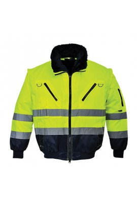 Portwest PJ50 Hi-Vis 3-In-1 Pilot Jacket (Small To 5XL)