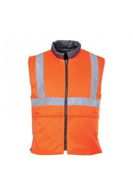 Portwest RT44 Hi-Vis Reversible Bodywarmer GO/RT (Small To 3XL)