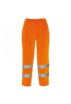 Portwest E041 Hi-Vis Poly-Cotton Trousers (Small To 2XL)