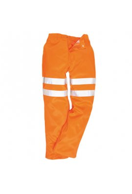 Portwest RT45 Hi-Vis Poly-Cotton Trousers GO/RT (Small To 5XL)