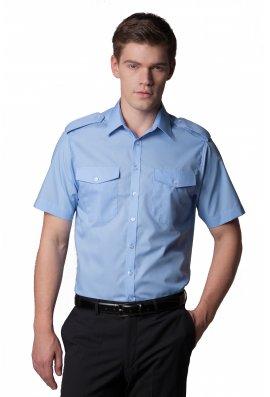 Kustom Kit KK133 Pilot Shirt Short Sleeved  (Collar Size 14.4 To 19.5)