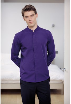 Kustom Kit KK161 Mandarin Collar Fitted Long Sleeved Shirt  (S To 2XL)