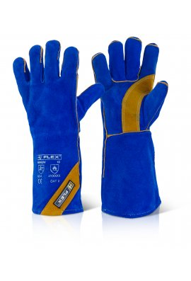 Click 2000 EN388 3233 Cat 2 Blue Gold Welders Gauntlets (Pack Size 10)