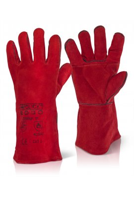 Click 2000 EN388 3234 Red Welders Gauntlet (Sold per Box 60 Pairs)