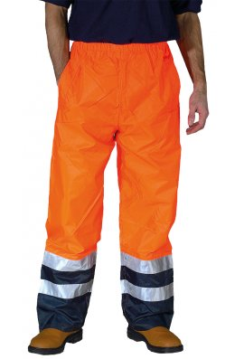 Yoko YK072 Hi-Vis Waterproof OverTrousers (Small To 3XL)