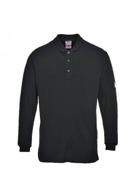 Portwest FR10 Flame-Resistant Anti Static Long Sleeved Polo Shirt