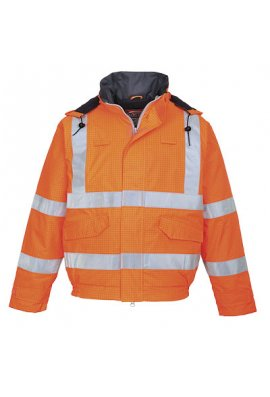 Portwest Bizflame Flame Retardant Anti Static Hi Vis Bomber Jacket (Small To 5XL)