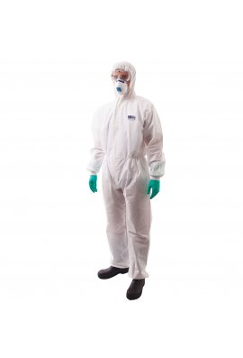 Portwest ST35 BizTex SMS Coverall With Knitted Cuff Type 5/6 (Medium to 2Xlarge) Box of 50