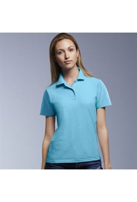 Anvil A303F Womens Double Pique Polo (Small To 2XL)