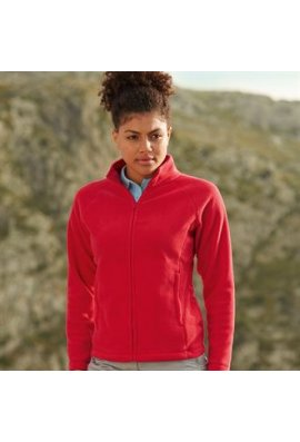 Fruit Of The Loom SS557 Lady Fit Full Zip Fleece (Small to 2XLarge)