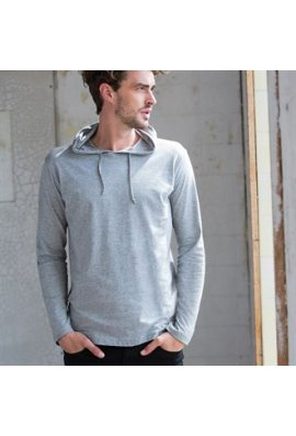Skinnifit SF251 Mens Long SLeeved Hooded SweatShirt (Small to Large)