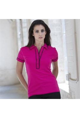 Skinnifit SK048 Womens Contrast Piped Polo Shirt