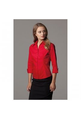 Kustom Kit KK710 Womens Corporate Oxford 3/4 Sleeved Blouse (Size 8 to Size 20)