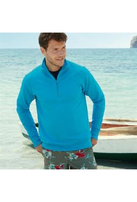 Fruit Of The Loom SS927 LightWeight Zip Neck SweatShirt (Small to 2Xlarge)