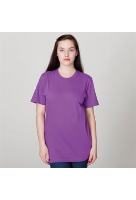 American Apparel AA001 Unisex Fine Jersey Short Sleeved T-Shirt