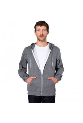 American Apparel AA023 Unisex Salt And Pepper Zip Hoodie