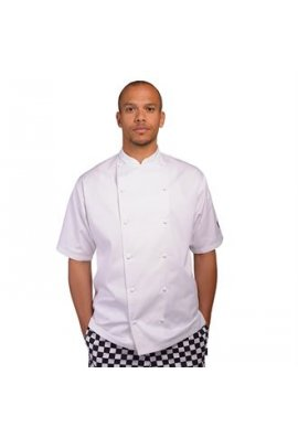 Le Chef LC009 Short Sleeve Executive Jacket With Cap Studs