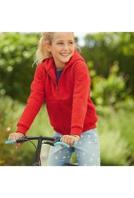 Fruit Of The Loom SS825 Premium 70/30 Kids Hooded SweatShirt Jacket