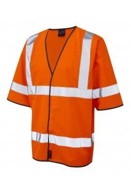 Leo Workwear S02-O Gorwell Orange Half Sleeve Hi Vis Vests (Small To 4XL)