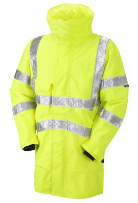 Leo Workwear A05-Y Class 3 Bampton Breathable Executive Reflexite Tape Anorak Jacket (Small to 6XL)
