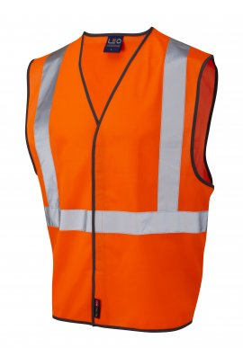 Leo Workwear W14-O Rail Spec Hi Vis Vests (lapford) (Small To 3XL)