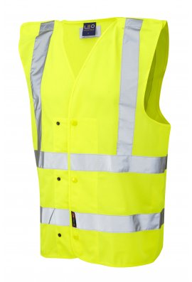 Leo Workwear W17-Y Rackenford Hi Vis Vests (Small To 3XL)