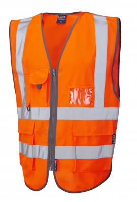 Leo Workwear W22-O Barnstaple Hi Vis Vests GORT (Small To 6XL)