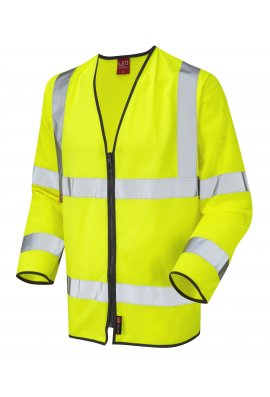 Leo Workwear S08-Y Brayford Limited Flame Spread Long Sleeve Waistcoat (Small To 4XL)