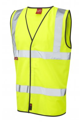 Leo Workwear W06-Y Dolton Flame Retardent Hi Vis Vests (Small To 4XL)