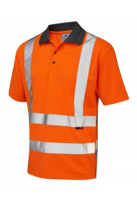 Leo Workwear P02-O Class 2 Rockham CoolViz Polo Shirt (Small To 6XL)