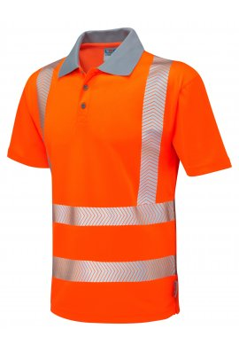 Leo Workwear P03-O Class 2 Woolacombe Coolviz Plus Polo Shirt (Small To 6XL)