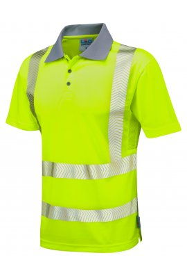 Leo Workwear P03-Y Class 2 Woolacombe Coolviz Plus Polo Shirt (Small To 6XL)