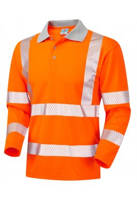 Leo Workwear P08-O Class 3 Barricane Coolviz Plus Sleeved Polo Shirt (Small To 6XL)
