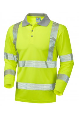 Leo Workwear P08-Y Class 3 Barricane Coolviz Plus Sleeved Polo Shirt (Small To 6XL)