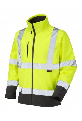 Leo Workwear SJ01-Y Class 3 Buckland Softshell Jacket (Small To 4XL)