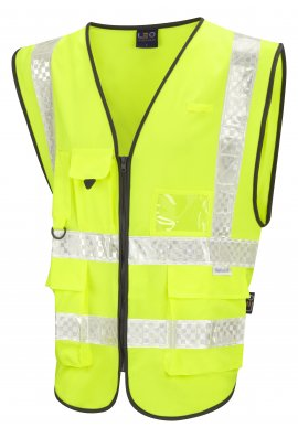 Leo Workwear W12-Y Heaton Superior Hi Vis Vests (Small To 6XL)