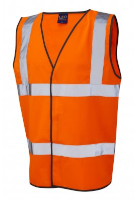 Leo Workwear W01-O Tarka Orange Hi Vis Vests (Small To 6XL)