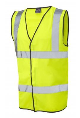Leo Workwear W01-Y Tarka Yellow Hi Vis Vests (Small To 6XL)