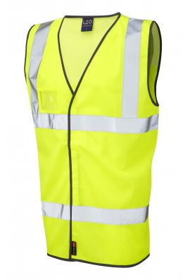Leo Workwear W03-Y Velator Airport Hi Vis Vests (Medium To 4XL)