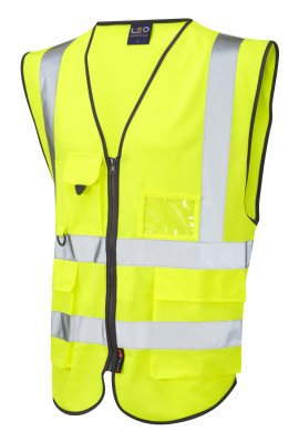 Leo Workwear W11-Y Lynton Superior Yellow Hi Vis Vests (Small To 6XL)