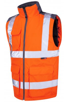 Leo Workwear BW01-O Class 2 Torrington Bodywarmer (Small To 6XL)