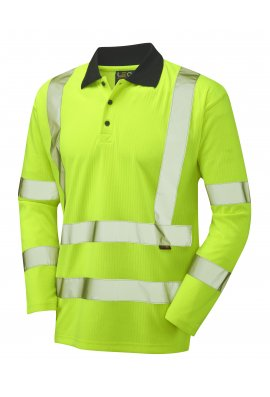 Leo Workwear P05-Y Class 3 Swimbridge Poly/Cotton Long Sleeved Polo Shirt (Small To 6XL)