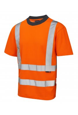 Leo Workwear T01-O Class 2 Newport Poly/Cotton T-Shirt (Small To 6XL)