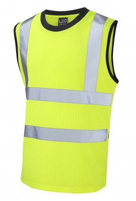Leo Workwear V01-Y Class 2 Ashford Poly/Cotton Vest (Small To 6XL)